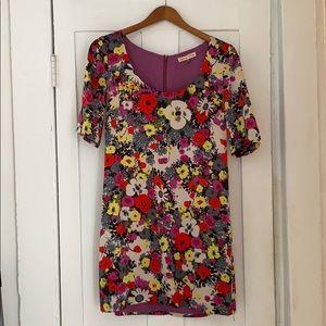 Silk floral Rebecca Taylor short sleeve dress